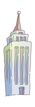 steeple: icon building Illustration