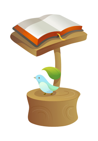 holy book: Hand drawn icon book on a stand.