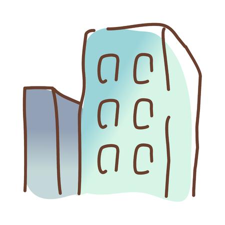 edifice: icon building Illustration