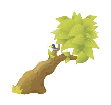 Icona disegnata a mano di un albero grasso. Archivio Fotografico - 74063484