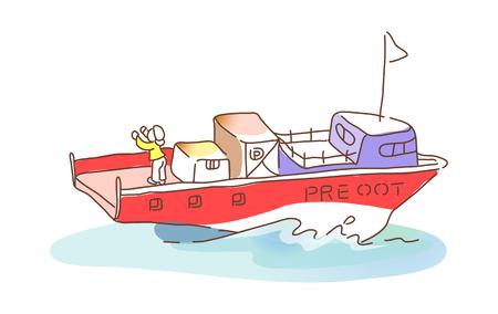 Pictogram schip Stockfoto - 74126444