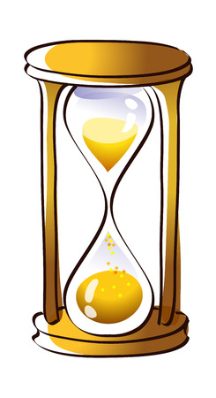 Beautiful hand drawn icon of an hourglass Illustration