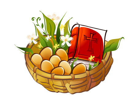 the scriptures: Beautiful hand drawn icon of an eggs. Illustration