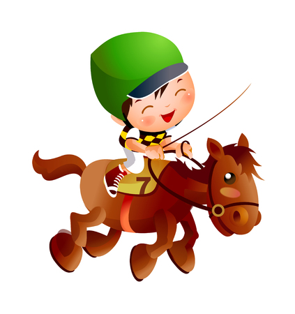 reins: Cool Illustration of a child. Illustration