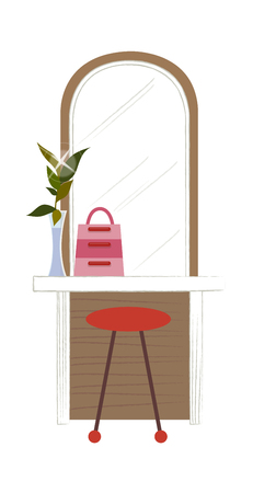 Cool Illustration of a dressing table.