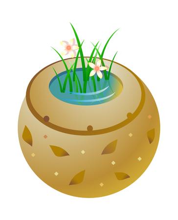 Cool jar vector icon illustration.