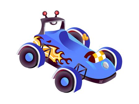 멋진 레이스 자동차 벡터 아이콘 그림.