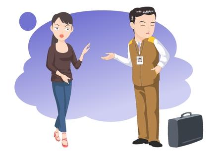 denial: Customer service-vector illustration. After sales service. Illustration