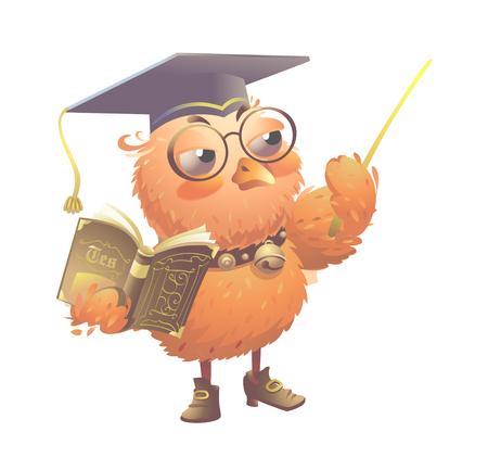 Cool elegant owl vector icon illustration.