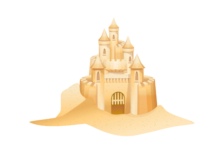 Cool elegant castle vector icon illustration.