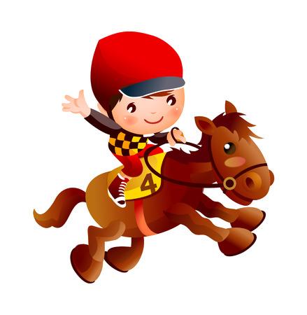 foal: Cool elegant  horse riding vector icon illustration. Illustration