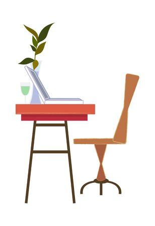 Cool elegant furniture vector icon illustration.