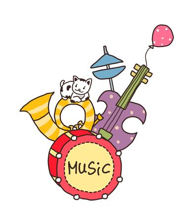 Artistic illustration vector of a musical instrument. Illustration