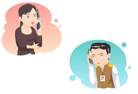 顧客サービス-ベクトル図