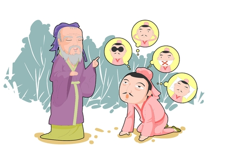 Chinese four character idiom illustrations