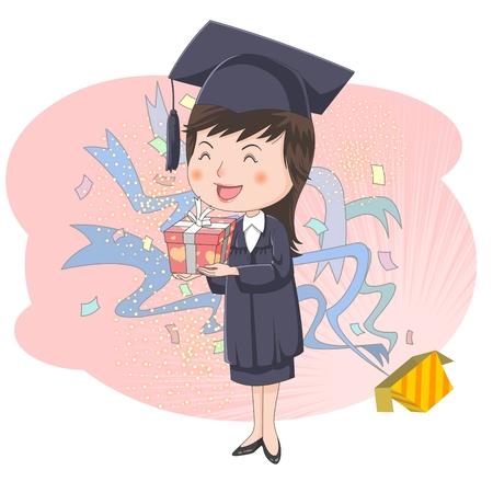 Graduation concept   illustration Stock Photo