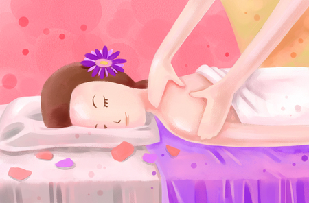 commercial painting: Vacation  illustration