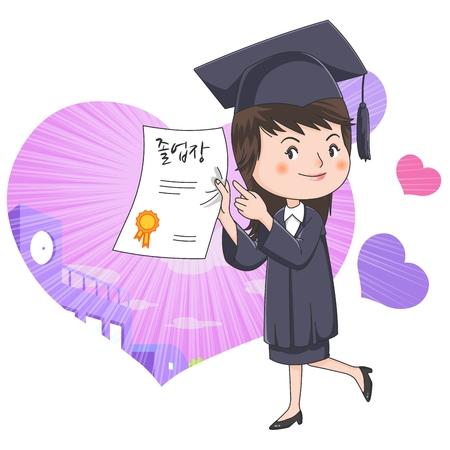 boast: Graduation concept  illustration