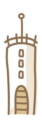 Vectorillustratie: objecten Stock Illustratie