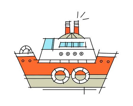 vectorillustratie: schip Stock Illustratie