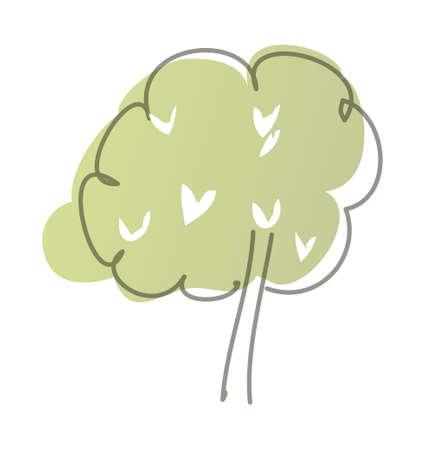 vector illustration: flower