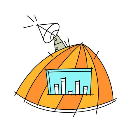 Vector illustration: building Illustration