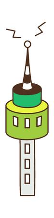 vector illustration: tower