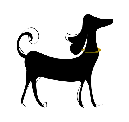 vector illustration: dog