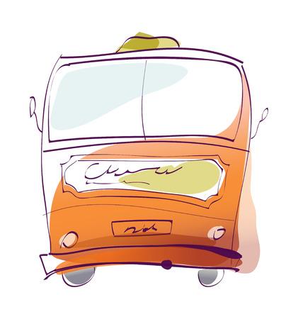 vector illustration: bus