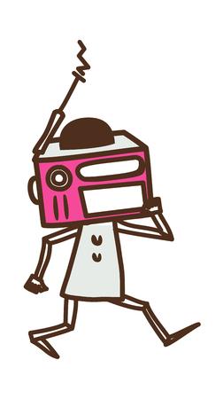vector illustration: machine Illustration