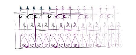 balustrade: vector illustration: fence Illustration