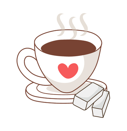 Illustration of a decorative vector illustration: cup Illustration