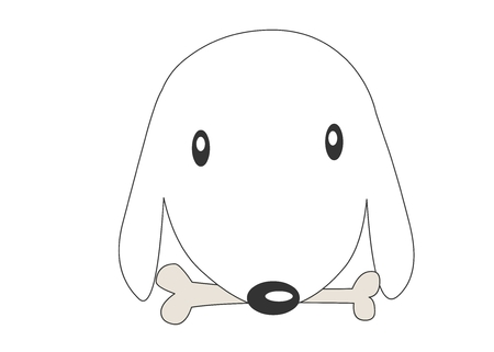 anthropomorphism: Animal character vector illustration-puppy