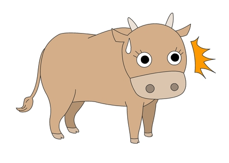 Animal character vector illustration-cow