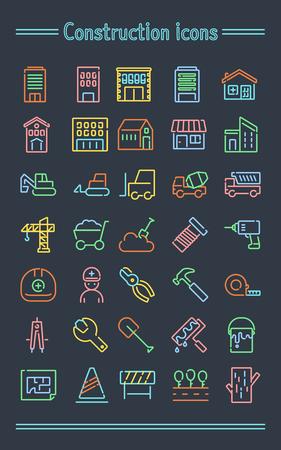 Neonsign アイコン セット _construction