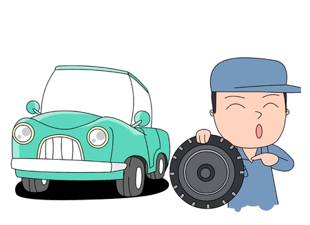 smiley face car: Car safety concept vector illustration