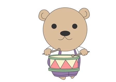 Animal character vector illustration-bear