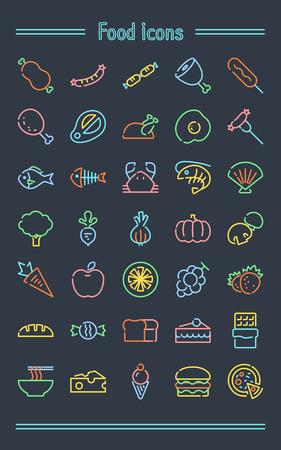 Neonsign Icon set _food