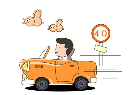 Car safety concept vector illustration
