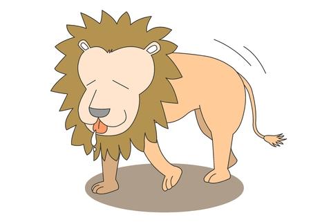 Animal character vector illustration-lion