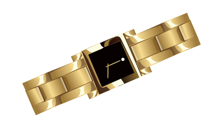Illustration of a decorative vector illustration: wrist watch thing. Illustration