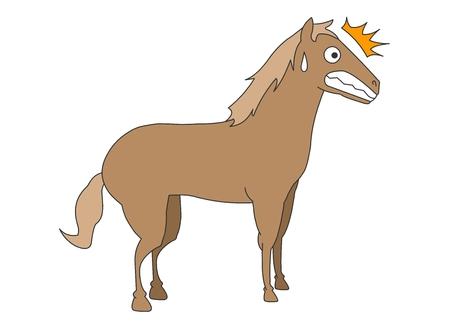 Animal character vector illustration-horse Illustration