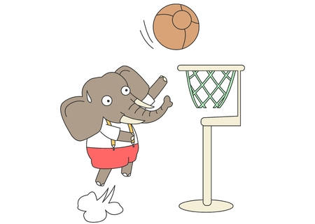 Animal character vector illustration-elephant