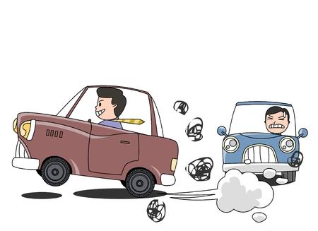 車安全概念ベクトル図  イラスト・ベクター素材