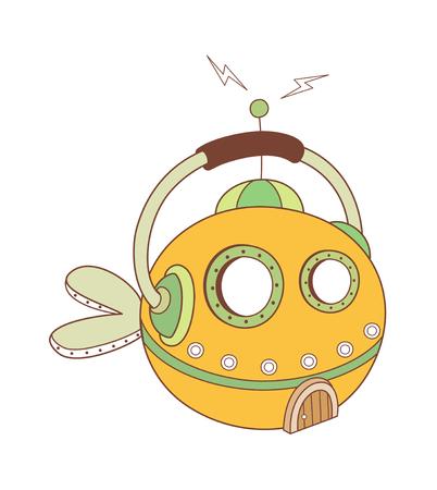 children's story: vector illustration: thing