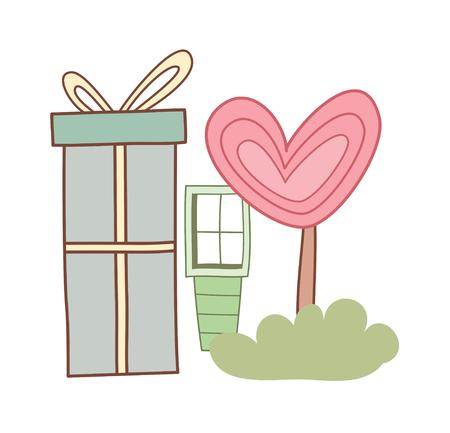 children's story: vector illustration: love Illustration
