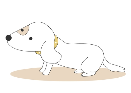 Animal character vector illustration-puppy