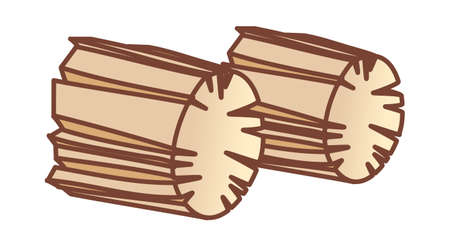 vector illustration: wood