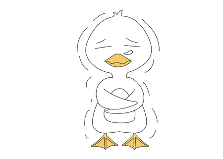 Animal character vector illustration-duck