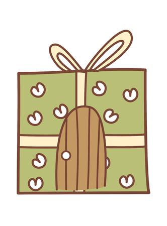 children's story: vector illustration: gift